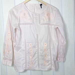 🌟 J. Crew Embroidered lace top blush women 2